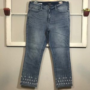 NYDJ Sheri Ankle Lift Tuck Tech Jeans Size 12